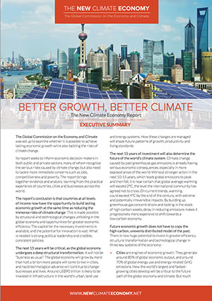 New Climate Economy Report